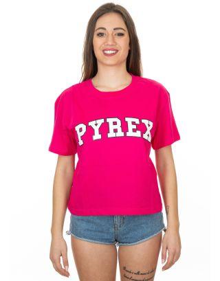 PYREX - T-SHIRT CORTA DONNA - 19EPB40021 - FUXIA
