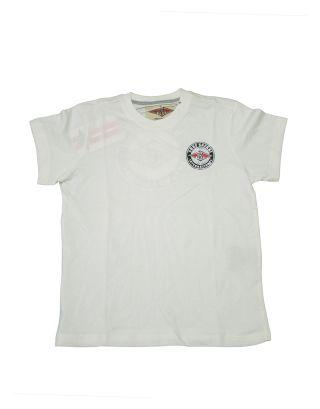 BEAR - T-SHIRT M/C BOY JUNIOR - BEAR BOY - B1HHC012-6 - SNOW WHITE - PANNA