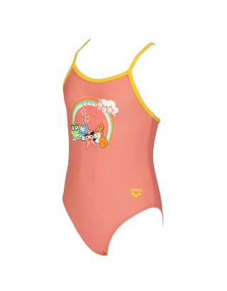 ARENA - COSTUME INTERO BIMBA - AWT JR - 002046943 - PALE ROSE/LILY YELLOW - MAXFIT