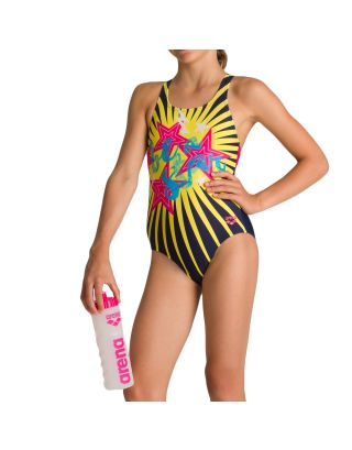 ARENA - COSTUME INTERO BIMBA - VIBES JR - 002881790 - NAVY/FREAK ROSE - MAXLIFE
