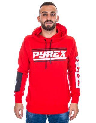 PYREX - FELPA CAPPUCCIO UOMO - 19IPB40367 - RED