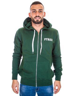 PYREX - FELPA FULL ZIP UOMO CAPPUCCIO - 19IPB34206 - GREEN