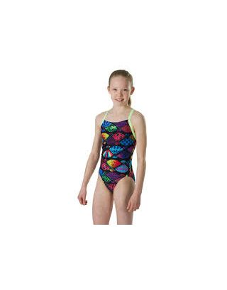 SPEEDO - COSTUME INTERO JR - TRANQUIL FAN - 10839D233 - BLACK/GREEN - END10