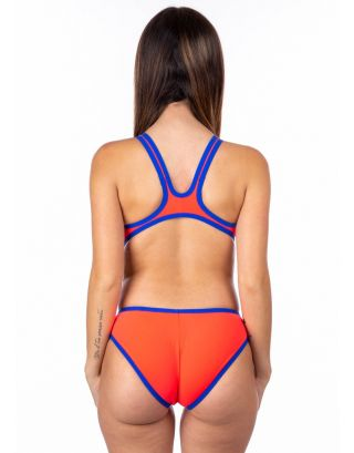 ARENA - COSTUME INTERO - ONE BIG LOGO - 001198480 - FLUO RED/NEON BLUE - MAXLIFE