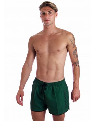 CALVIN KLEIN - COSTUME SHORT - CORE SOLIDS - KM0KM00439-LC0 - DARK GREEN