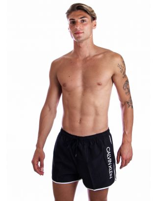 CALVIN KLEIN - COSTUME SHORT - CORE SOLIDS - KM0KM00439-BEH - BLACK