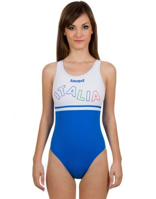 JAKED - COSTUME JUNIOR INTERO ITALIA WAVY - JINUA05001 - ROYAL/WHITE