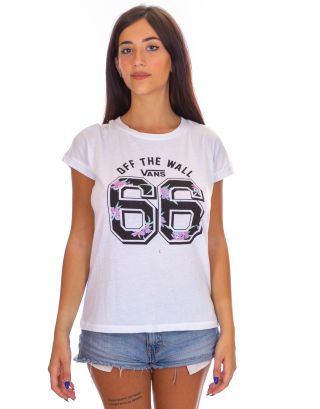 VANS - T-SHIRT DONNA - FREE SAFETY - VA31TVWHT - WHITE