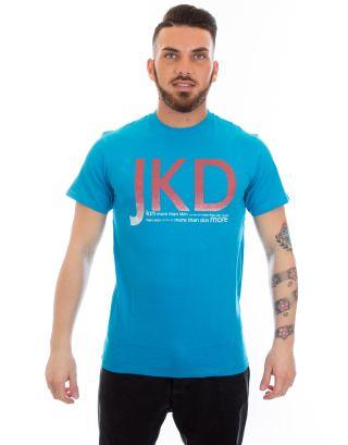 JAKED - T-SHIRT UNISEX S/S - PIXEL - JSMAS99002 - TURQ./ORANGE