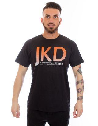JAKED - T-SHIRT UNISEX S/S - PIXEL - JSMAS99002 - BLACK/ORANGE