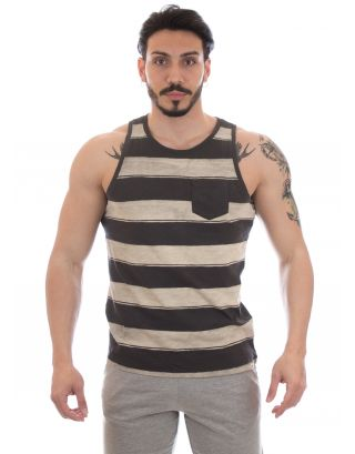 REEF - CANOTTA STRIPE IT TANK - RA2YDIBLA - BLACK