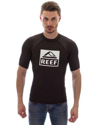 REEF - T-SHIRT LYCRA M/C - LOGO RASH 5 - 00E107BLA - BLACK