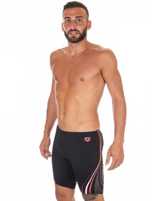 ARENA - COSTUME JAMMER - ONE SERIGRAPHY - 001289504 - BLACK/FLUO RED - MAXLIFE
