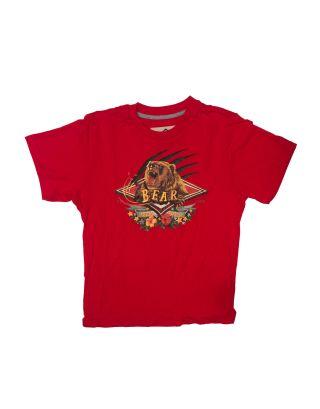 BEAR - T-SHIRT M/C BOY JUNIOR - BEAR BOY - B1HHC002-316 - CHINESE RED - ROSSO