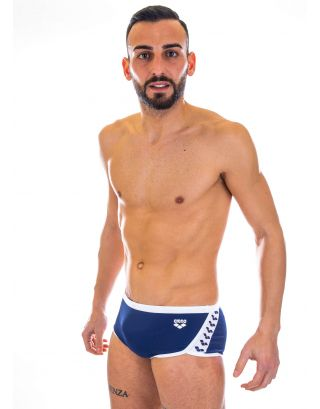 ARENA - COSTUME BOXER - TEAM STRIPE LOW WAIST SHORT - 001280701 - NAVY/WHITE