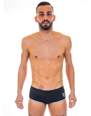 ARENA - COSTUME BOXER - ONE BIGLOGO LOW WAIST SHORT - 001703552 - BLACK/SILVER