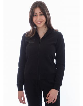 ARENA - FELPA DONNA - ESS HOODED F/Z JACKET - 001041500 - BLACK