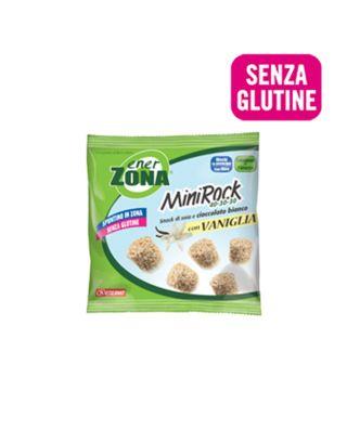 ENERZONA-SNACK DI SOIA SENZA GLUTINE-97285 - scad. 11/09/21-MINIROCK VANIGLIA E CIOCCOLATO BIANCO