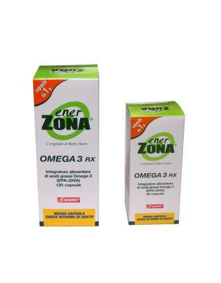 ENERZONA - BIPACK FLACONI OMEGA 3RX 120pcs + 3RX 48pcs - SCAD. 30/12/21- 92345