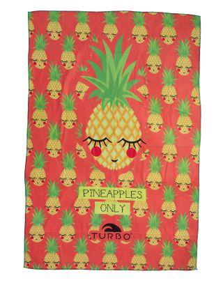 TURBO - TELO MARE - MICROFIBRA - PINEAPPLE HAPPY - 145x100cm - 9890379