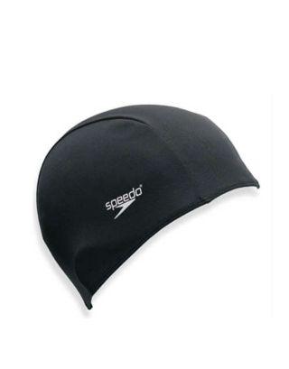 SPEEDO - CUFFIA POLYESTER CAP JUNIOR - 710110001 - BLACK