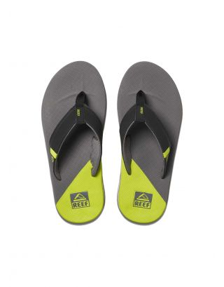 REEF - INFRADITO UOMO - FANNING LOW - GLI - GREY/LIME