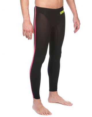 ARENA - MAN POWERSKIN R-EVO+OPEN WATER PANT - LEGSKIN - 25275503 - BLACK, FLUO YELLOW