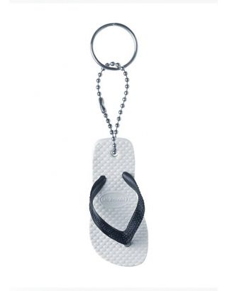 HAVAIANAS - PORTACHIAVI - KEY RING - 4110821-0128 - WHITE/BLACK